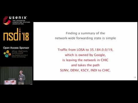 NSDI '18 - Net2Text: Query-Guided Summarization of Network Forwarding Behaviors