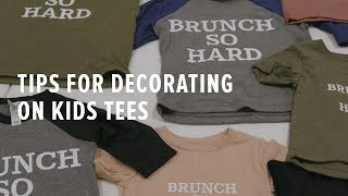 Tips for Screen Printing Kids Apparel