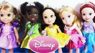Disney Princess Petite Princess Party Gift Set Rapunzel, Aurora, Tiana, Belle & Ariel