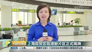 [中国财经报道]上海自贸区临港新片区正式揭牌| CCTV财经