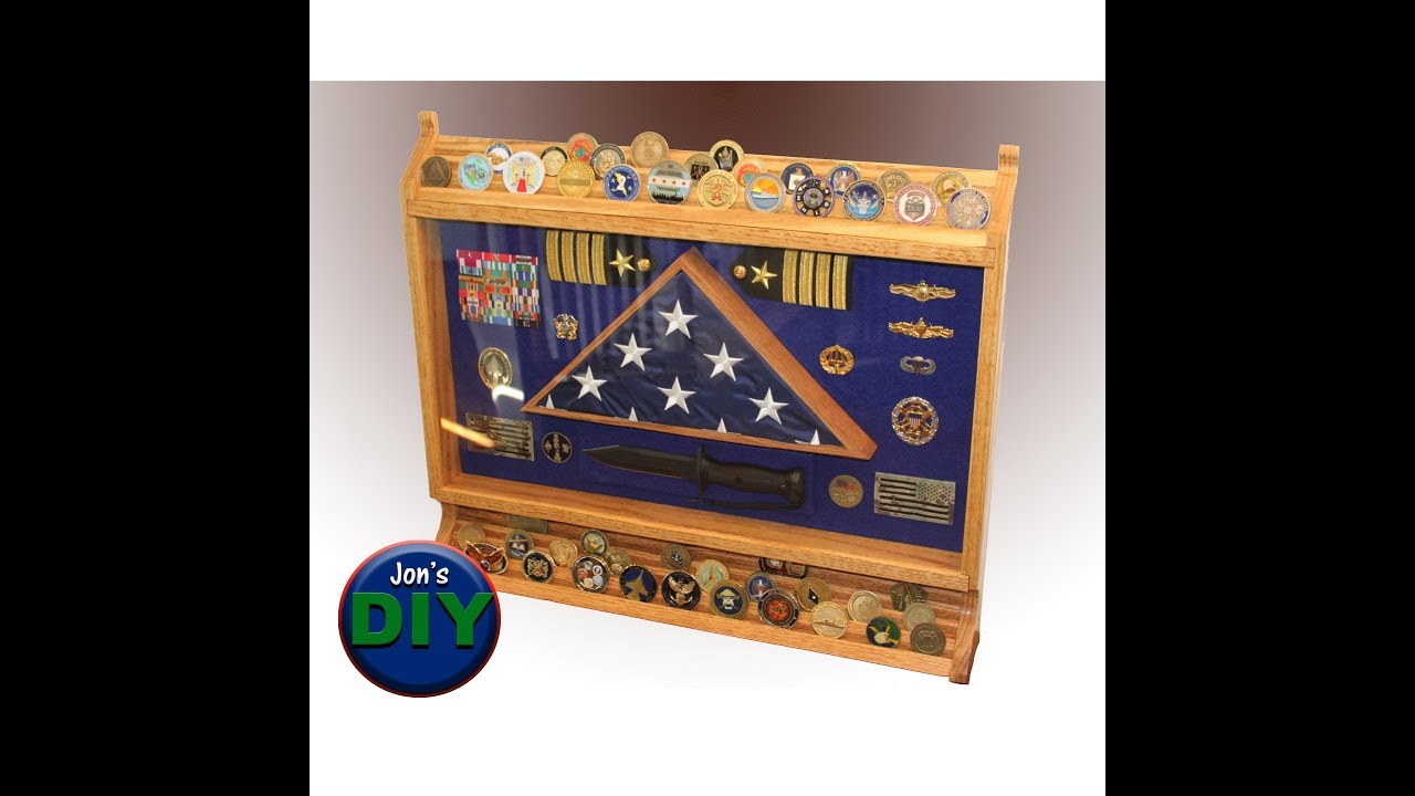 Diy Build Your Own Shadow Box With Coin Rack Youtube
