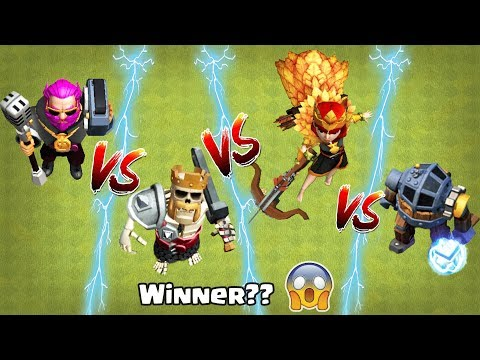 Who Is Stronger In COC | Barbarian King Vs Archer Queen Clash Of Clans