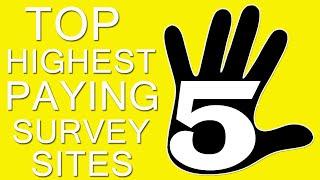 TOP 5 Highest Paying Survey Sites 2020 (Make Money Online)