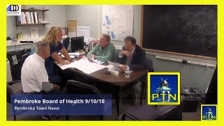 Pembroke Board of Health Rooster Complaint, Variance Requests, Plastic Bag Ban Subcommittee  & more