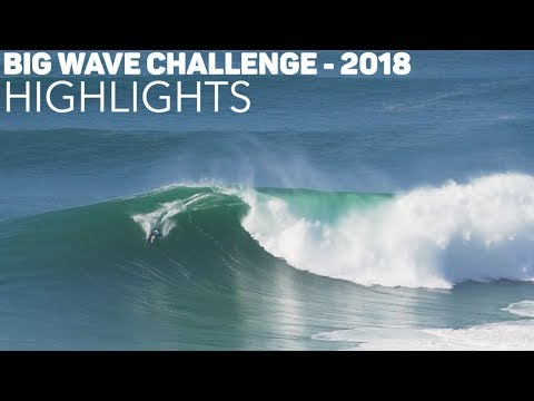 PROS Score CLEAN WAVES in Nazare - WSL Big Wave Challenge HIGHLIGHTS - 2018