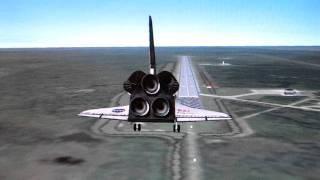 Space Shuttle Atlantis landing simulation - Orbiter 2010