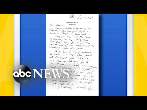 George W. Bush's Inauguration Day Letter to Barack Obama