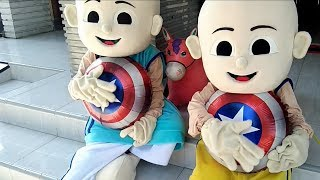Caráter de balões de brinquedos Captain Amerika - Unboxing C…