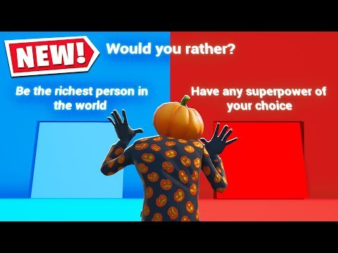 Someone Put WOULD YOU RATHER In FORTNITE?! (Fortnite Creative Mode)