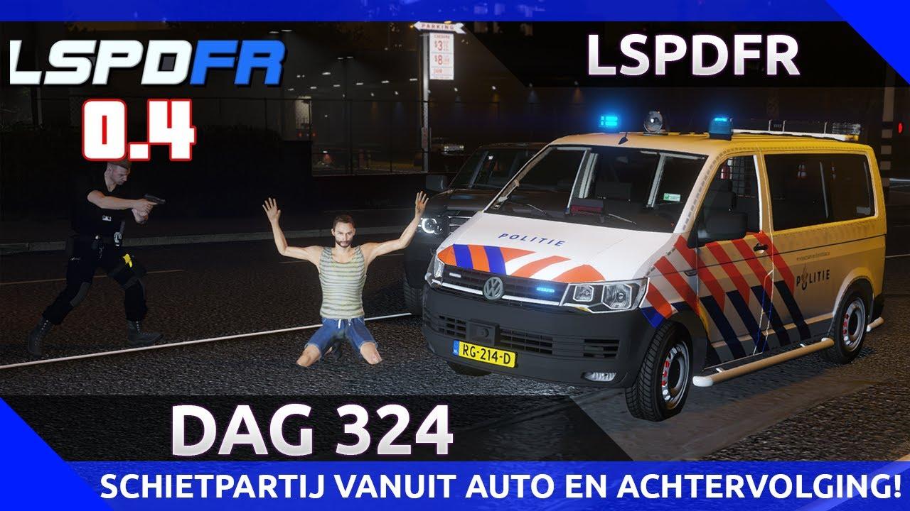 GTA 5 lspdfr dag 324 - Schietpartij vanuit auto en wilde achtervolgingen!