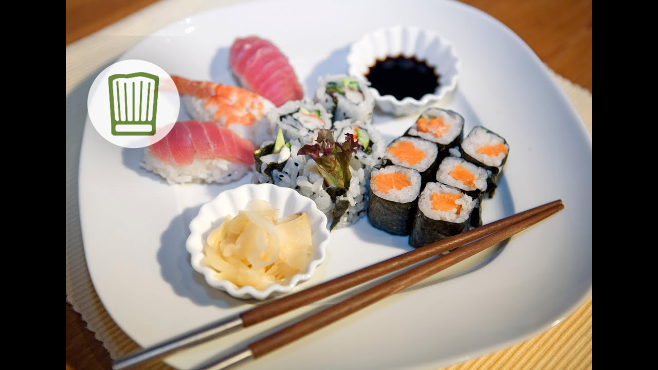 sushi variationen chefkoch youtube. Black Bedroom Furniture Sets. Home Design Ideas