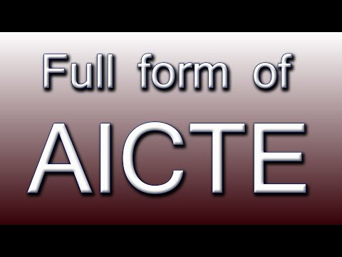 Full form of AICTE