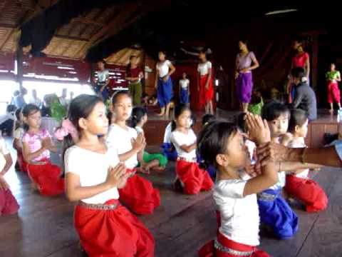 Children learning Apsara dance, Cambodia 2005