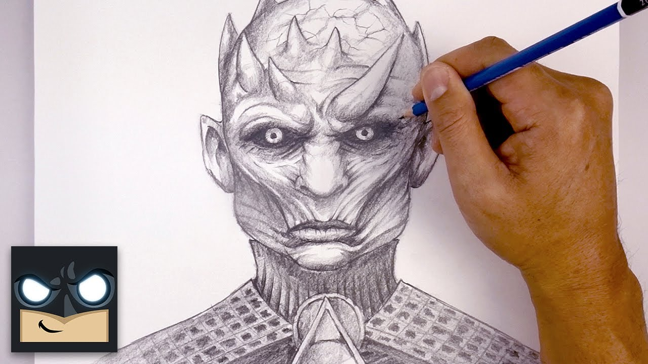 How To Draw The Night King | Game of Thrones Sketch Tutorial