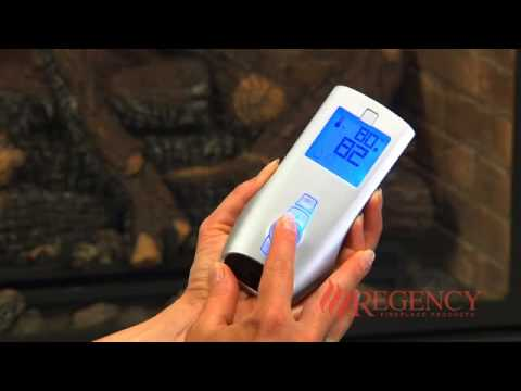 Tutorial with instructions on how to operate the Proflame Remote Control with a Regency gas fireplace.
