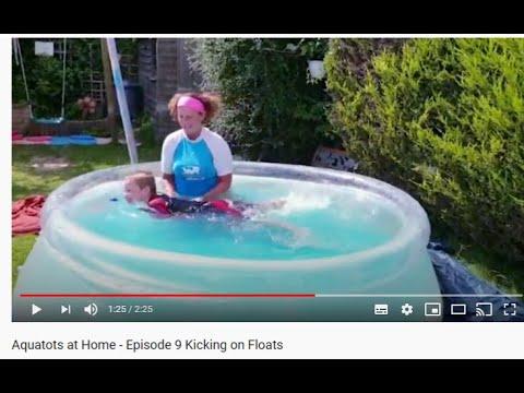 Aquatots Skills at Home   Aquatots at Home - Episode 9 Kicking on Floats