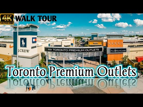 Toronto PREMIUM OUTLETS  //  Re-Opened AFTER Lockdown  //  4K Walk Tour  //  2020