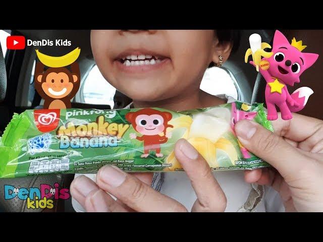 Es Krim BARU Es KRIM Pink Fong Monkey Banana Baby Banana