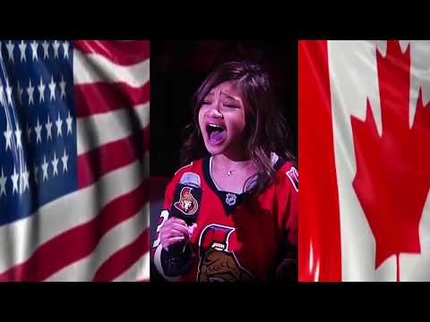 Angelica Hale Florida Panthers vs Ottawa Senators - National Anthems -March 29, 2018