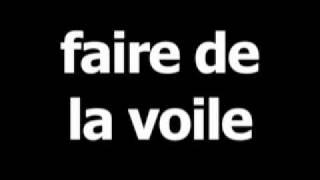 French word for sailing is faire de la voile