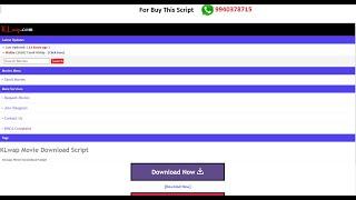 KLwap Movie Download Site Php Script,