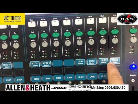Hướng Dẫn sử dụng Mixer Allen Heath QU16, QU24, QU32