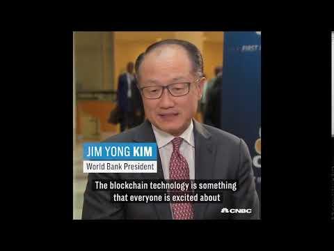 What does Jim Yong Kim - World Bank President says about Blockchain?