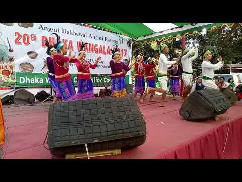 Achik creative culture performed  ,Dhaka wangala 2017