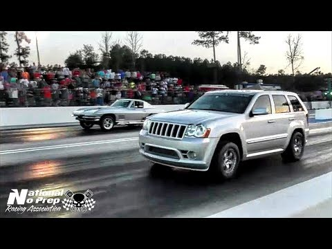 Azn's AWD Jeep; jeeper sleeper vs Corvette at Orangesburg Street Outlaws Live No Prep
