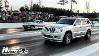 Azn's AWD Jeep; jeeper sleeper vs Corvette at Orangesburg Street Outlaws Live No Prep