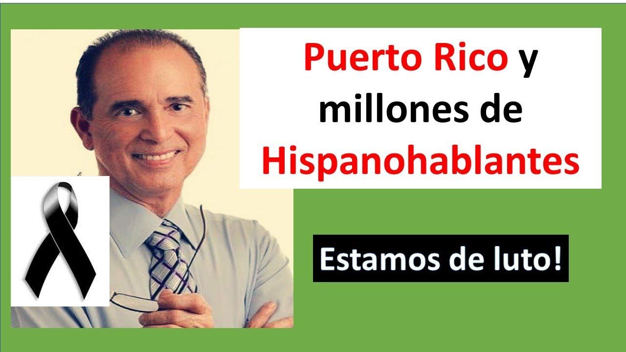 Puerto Rico y millones de Hispanohablantes estamos de luto. Fallece Frank Suárez