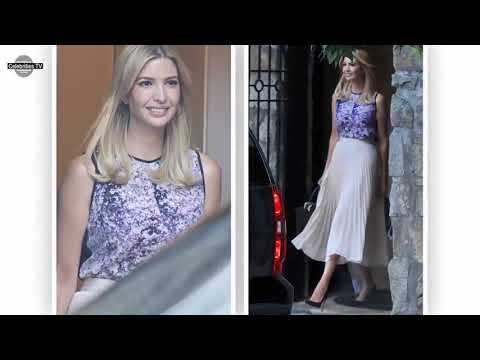 Ivanka Trump Beams Happily in A VERY Sheer Skirt And Sleeveless Top