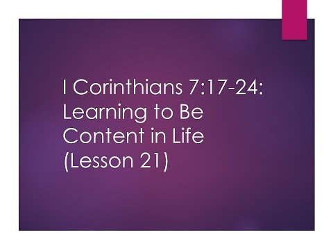 analysis of corinthians 21 17 (2 corinthians 5:17) god was reconciling the world to himself in christ, not counting men's sins against them and he has committed to us the message of reconciliation.