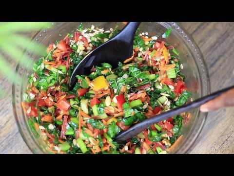 How to : Delicious Kale Salad Recipe   Vegan recipe   Raw food recipe
