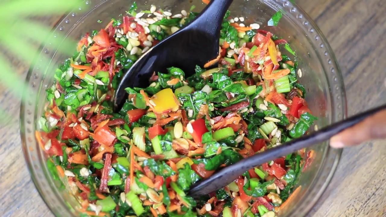 How to delicious kale salad recipe vegan recipe raw food how to delicious kale salad recipe vegan recipe raw food recipe forumfinder Image collections