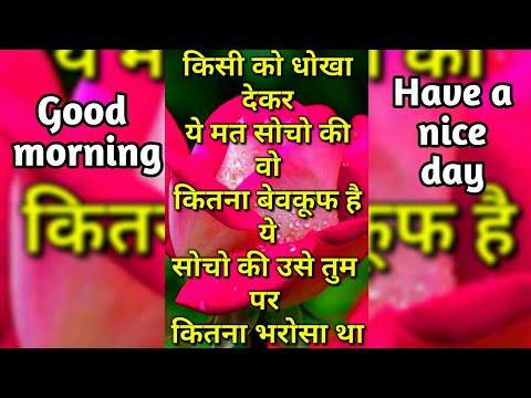 Kisi Ko Dokha Dekar Ye Mat Socho Ki Vo...   Good Morning Shayari   Good Morning Video
