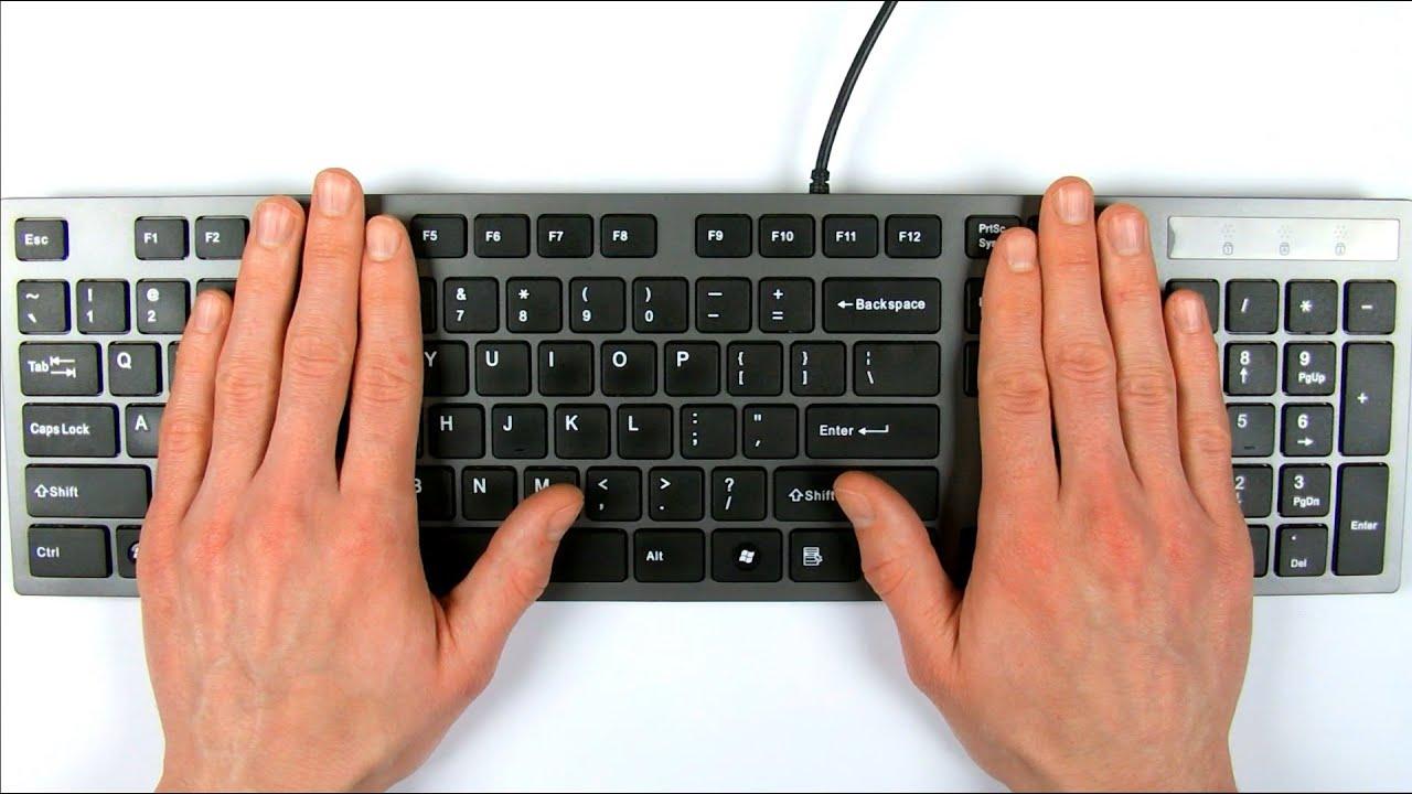 ASMR keyboard typing