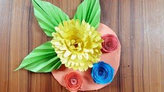 Origami paper flower -  সুন্দর কাগজের ফুল - 3 Sisters Crafts