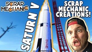 Scrap Mechanic CREATIONS! - WORLD'S BIGGEST ROCKET!! [#19] W/AshDubh | Gameplay |