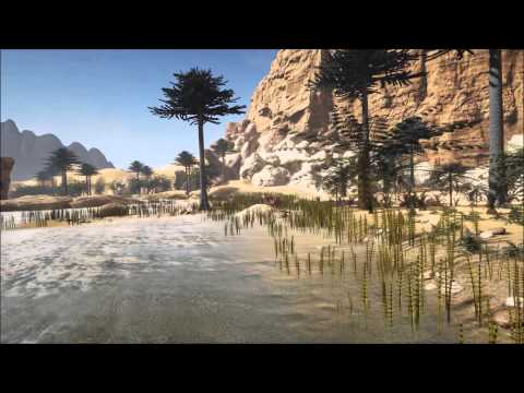 MRES Triassic World Oasis fly through WIP