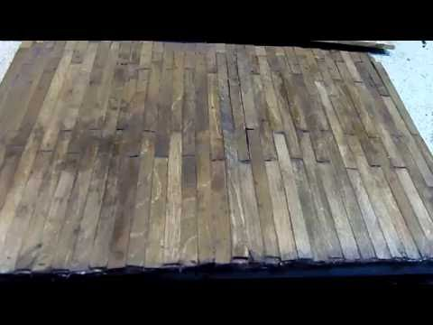 Old Wooden Plank Diorama Floor Using Popsicle Sticks - YouTube