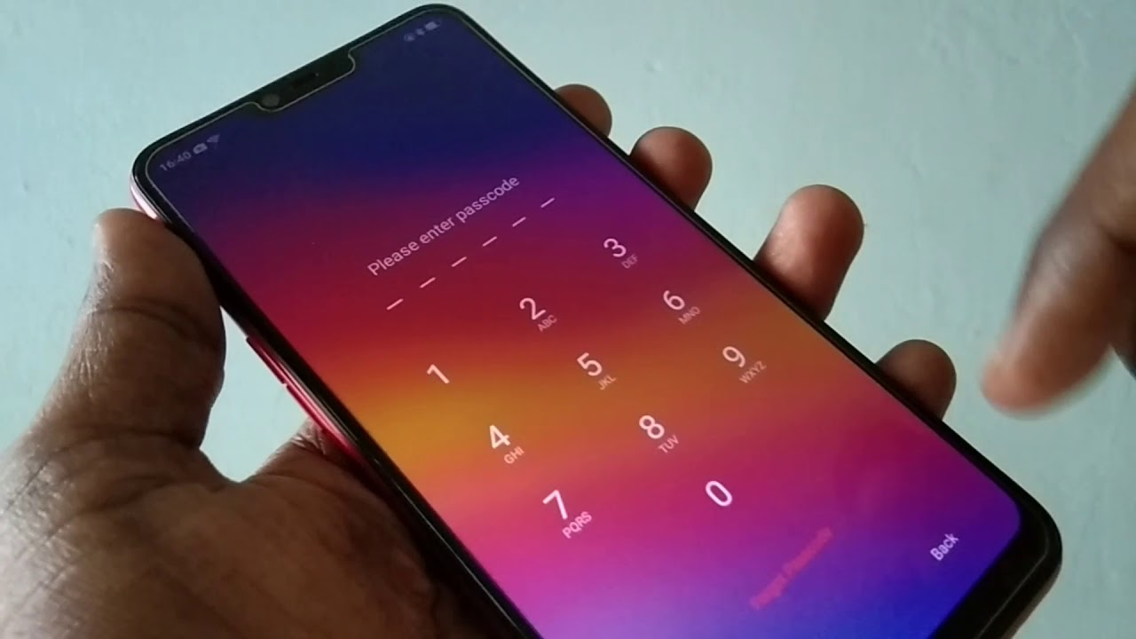 How to reset passcode in Oppo A3S