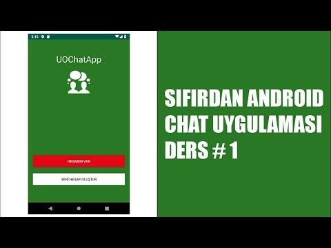 Karşılama Ekranı Tasarımı - Sıfırdan Android Chat Uygulaması