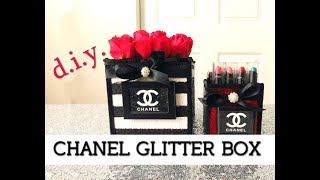 connectYoutube - DIY Gorgeous Black and White Chanel Glitter Box   $10