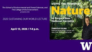 2020 Sustaining Our World Lecture