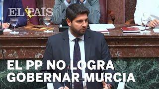 VOX impide la investidura del candidato del PP en MURCIA y culpa a Rivera