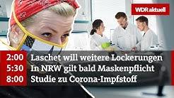 Corona-Impfstoff - erste klinische Studie zugelassen | WDR Aktuelle Stunde