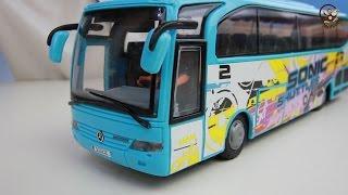 Открываем игрушки машинки. Туристический автобус. МанкиИгрушки