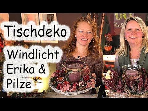 Tischdeko Heidekräuter Eriken