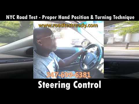 Nyc Road Test Proper Hand Position Turning Technique Youtube